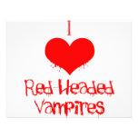 I Love (heart) Red-Headed Vampires Personalized Invites