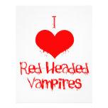 I Love (heart) Red-Headed Vampires Letterhead