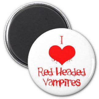 I Love (heart) Red-Headed Vampires Magnet