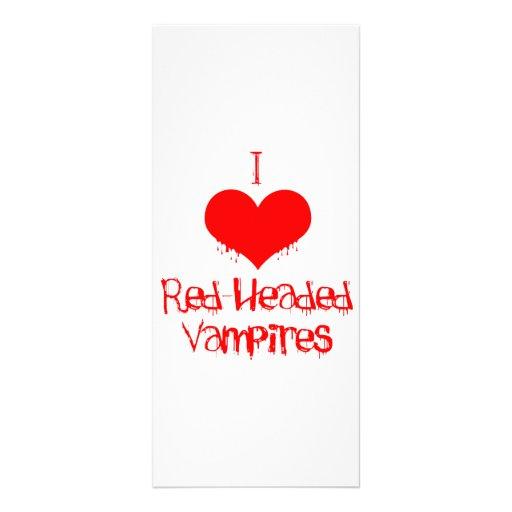 I Love (heart) Red-Headed Vampires Rack Card Design