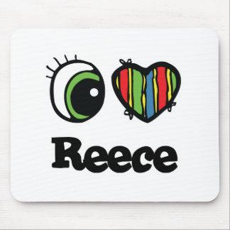 I Love (Heart) Reece Mouse Pad
