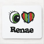 I Love (Heart) Renae Mouse Pads