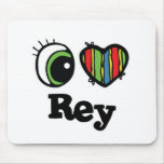 I Love (Heart) Rey Mouse Pads