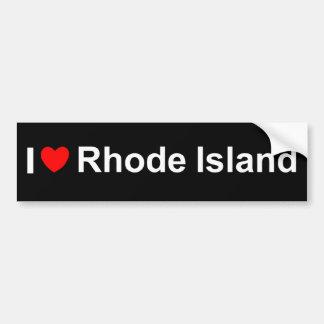 I Love (Heart) Rhode Island Bumper Sticker