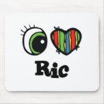 I Love (Heart) Ric Mouse Mats