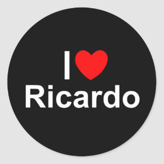 I Love (Heart) Ricardo Classic Round Sticker