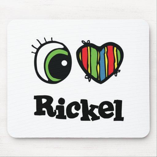 I Love (Heart) Rickel Mouse Pad