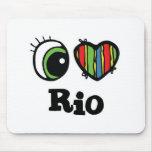 I Love (Heart) Rio Mouse Mats