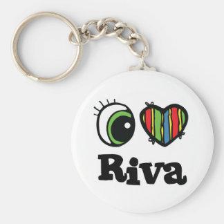 I Love (Heart) Riva Keychains