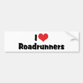 I Love Heart Roadrunners Bumper Sticker