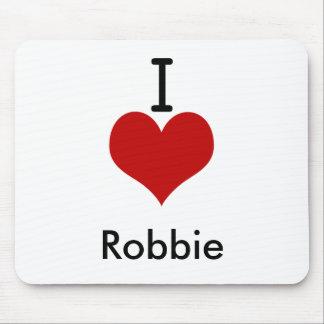 I Love (heart) Robbie Mouse Pad