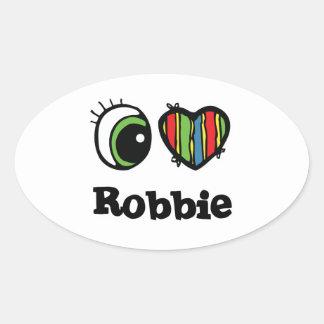 I Love (Heart) Robbie Oval Sticker