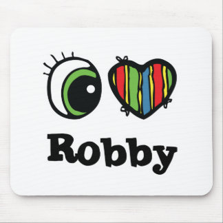 I Love (Heart) Robby Mouse Pad