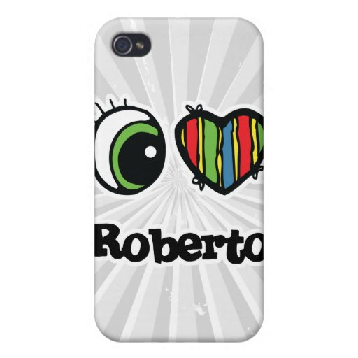 I Love (Heart) Roberto iPhone 4 Cover