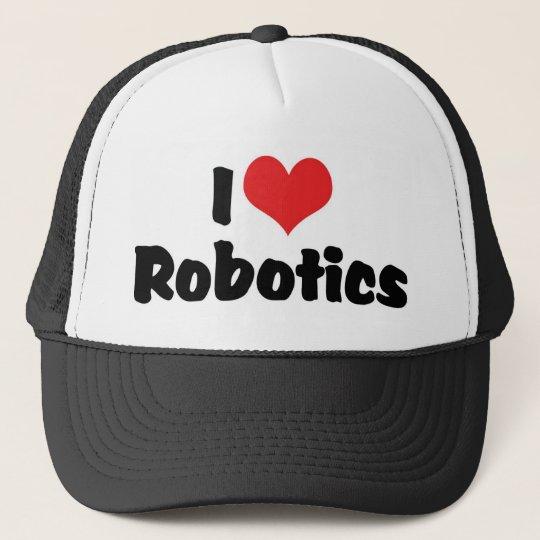 I Love Heart Robotics - Robot Lover Trucker Hat