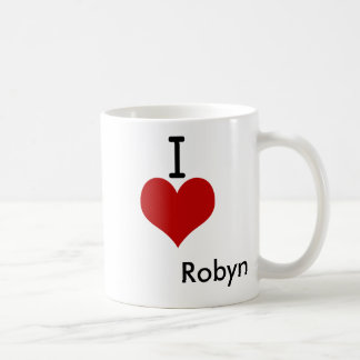 I Love (heart) Robyn Mugs