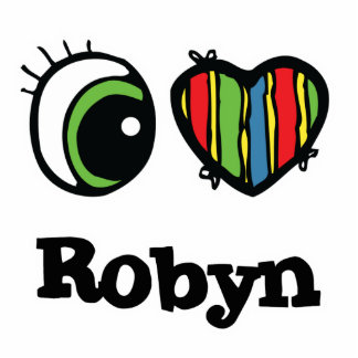 I Love (Heart) Robyn Photo Sculpture Keychain
