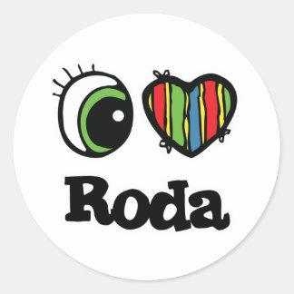 I Love (Heart) Roda Sticker