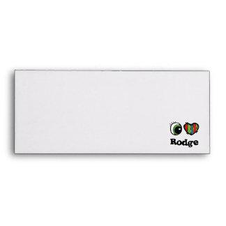 I Love (Heart) Rodge Envelopes