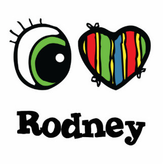 I Love (Heart) Rodney Photo Sculpture Keychain