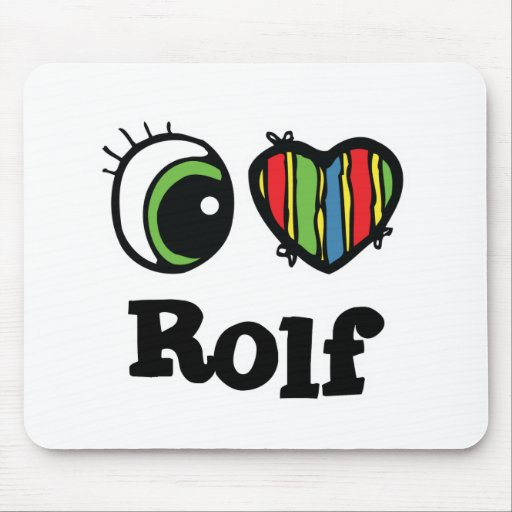 I Love (Heart) Rolf Mouse Pads