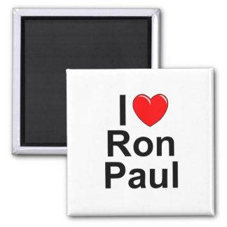 I Love (Heart) Ron Paul Refrigerator Magnet