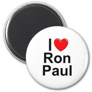 I Love (Heart) Ron Paul Refrigerator Magnets