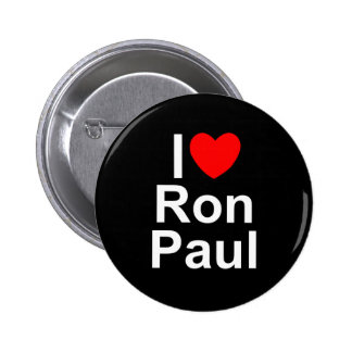 I Love (Heart) Ron Paul Pinback Button