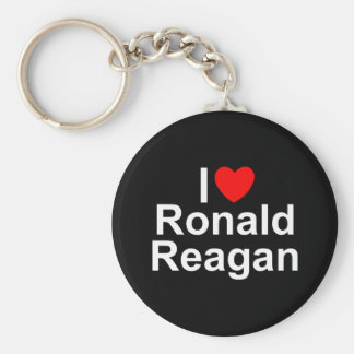 I Love (Heart) Ronald Reagan Basic Round Button Keychain