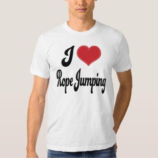 I Love (Heart) Rope Jumping Tee Shirt