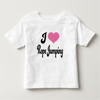 I Love (Heart) Rope Jumping Toddler T-shirt