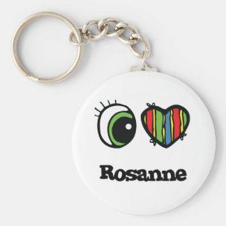 I Love (Heart) Rosanne Keychains