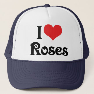 I Love Heart Roses - Flower Garden Lover Trucker Hat
