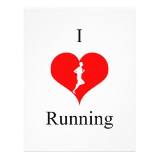 I Love Heart Running Health Fitness Letterhead