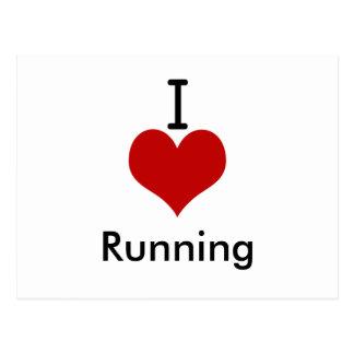 I Love (heart) Running Postcard
