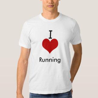 I Love (heart) Running T Shirts