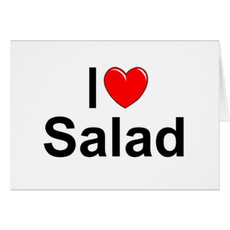 I Love (Heart) Salad Greeting Cards
