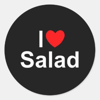 I Love (Heart) Salad Classic Round Sticker