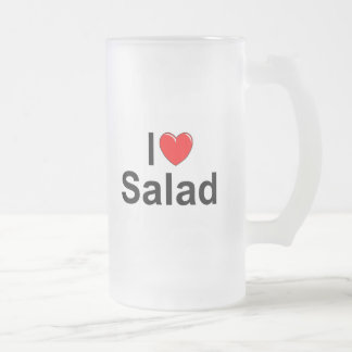 I Love (Heart) Salad Frosted Glass Beer Mug