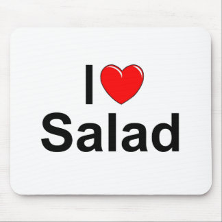 I Love (Heart) Salad Mouse Pad