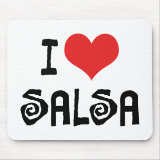 I Love Heart Salsa Mouse Pad