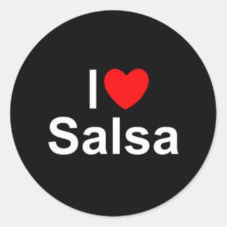 I Love (Heart) Salsa Round Sticker