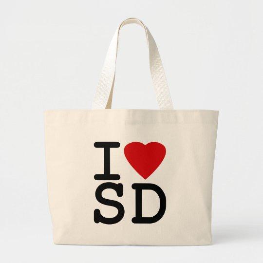 I Love Heart San Diego Large Tote Bag