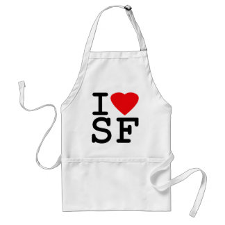 I Love Heart San Francisco Adult Apron
