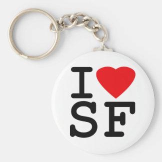 I Love Heart San Francisco Basic Round Button Keychain