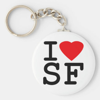 I Love Heart San Francisco Keychain