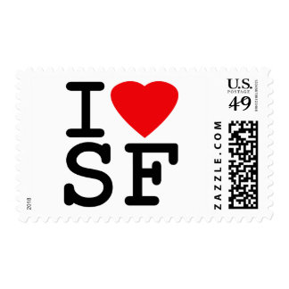 I Love Heart San Francisco Postage Stamps
