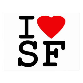 I Love Heart San Francisco Postcard