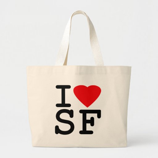 I Love Heart San Francisco Tote Bags