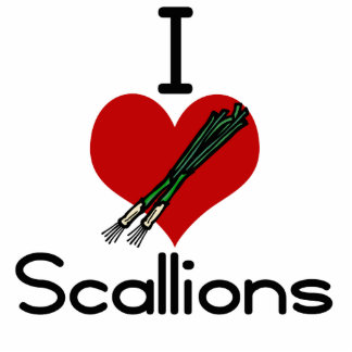 i love-heart scallions cut outs